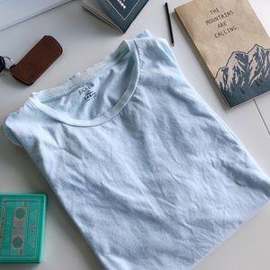 J.Crew Slim-Washed Light Blue Pocket Crew T-Shirt